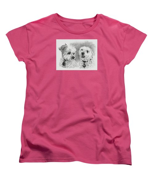 Women's T-Shirt (Standard Cut) featuring the drawing Precious Ones  by Terri Mills