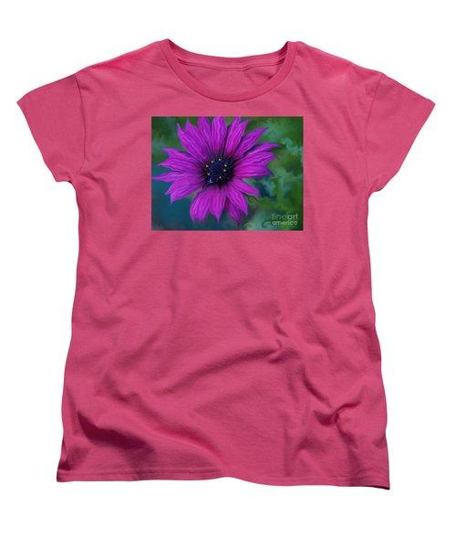 Women's T-Shirt (Standard Cut) featuring the photograph Purple by Trena Mara