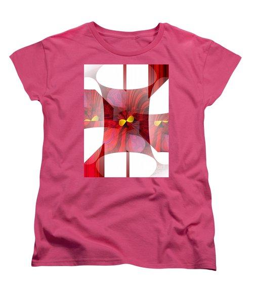 Red Transparency  Women's T-Shirt (Standard Cut) by Thibault Toussaint
