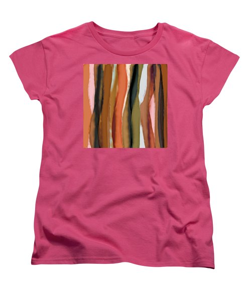 Women's T-Shirt (Standard Cut) featuring the painting Ribbons by Bonnie Bruno