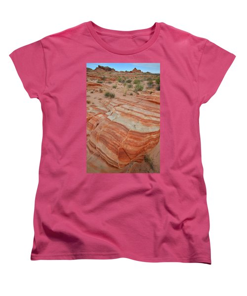 Women's T-Shirt (Standard Cut) featuring the photograph Sandstone Stripes In Valley Of Fire by Ray Mathis