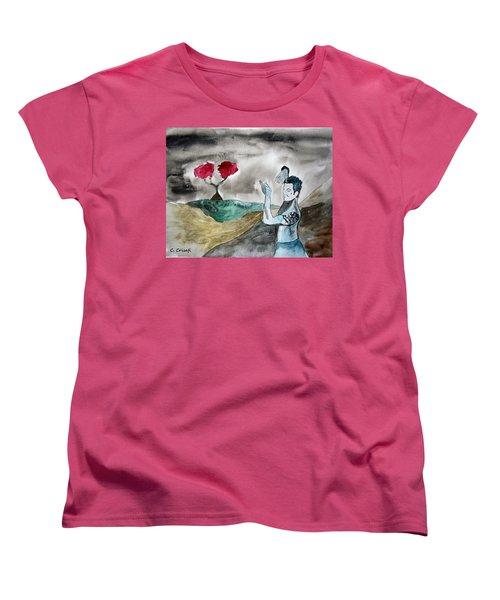 Scott Weiland - Stone Temple Pilots - Music Inspiration Series Women's T-Shirt (Standard Cut) by Carol Crisafi