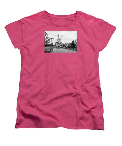 Sleeping Beauty Castle Women's T-Shirt (Standard Cut) by Roger Lighterness