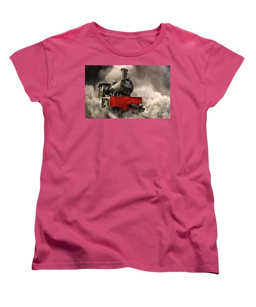 Women's T-Shirt (Standard Cut) featuring the photograph Steam Engine by Charuhas Images