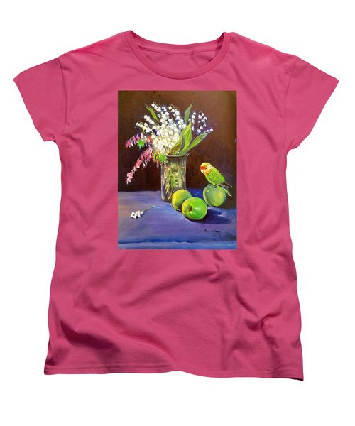 Still Life Women's T-Shirt (Standard Cut) by Rose Wang