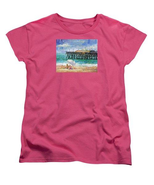 Women's T-Shirt (Standard Cut) featuring the painting Summer Sun by Jennifer Beaudet