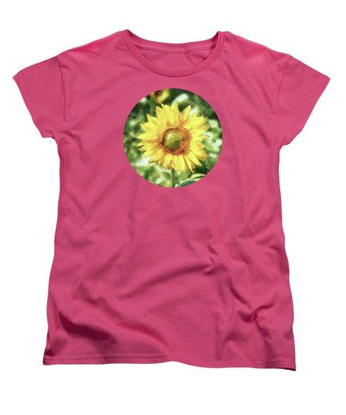 Sunflower Women's T-Shirt (Standard Cut) by Phil Perkins