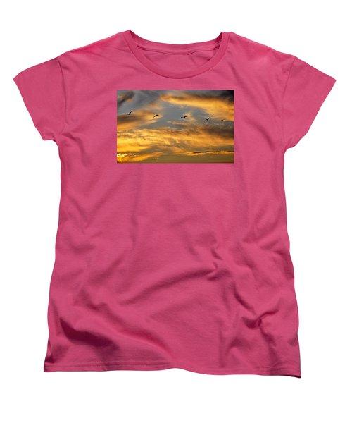 Sunset Flight Women's T-Shirt (Standard Cut)
