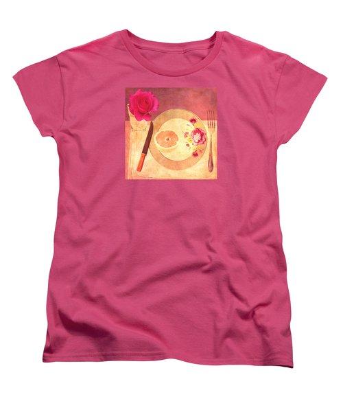 Women's T-Shirt (Standard Cut) featuring the digital art Tablescape by Lisa Noneman