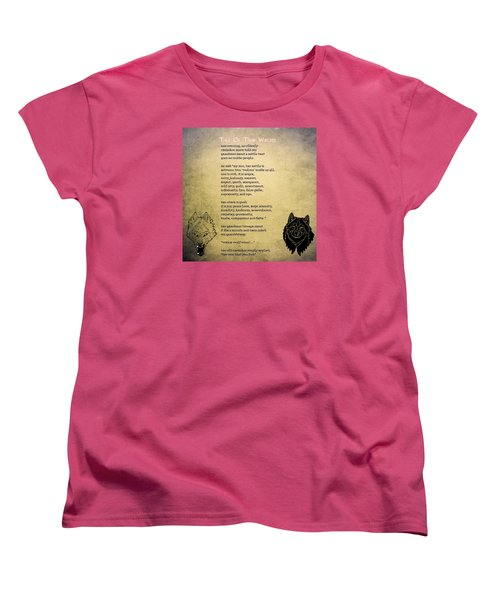 Tale Of Two Wolves - Art Of Stories Women's T-Shirt (Standard Cut) by Celestial Images
