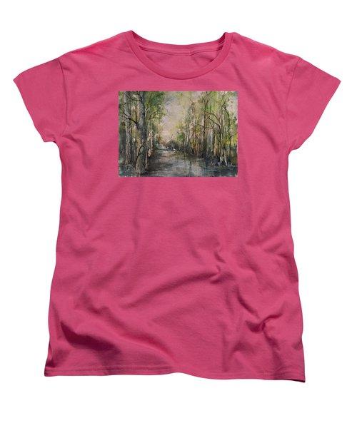 Bayou Liberty Women's T-Shirt (Standard Cut) by Robin Miller-Bookhout