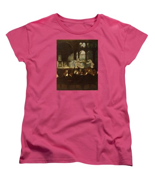 Women's T-Shirt (Standard Cut) featuring the painting The Ballet From Robert Le Diable by Edgar Degas