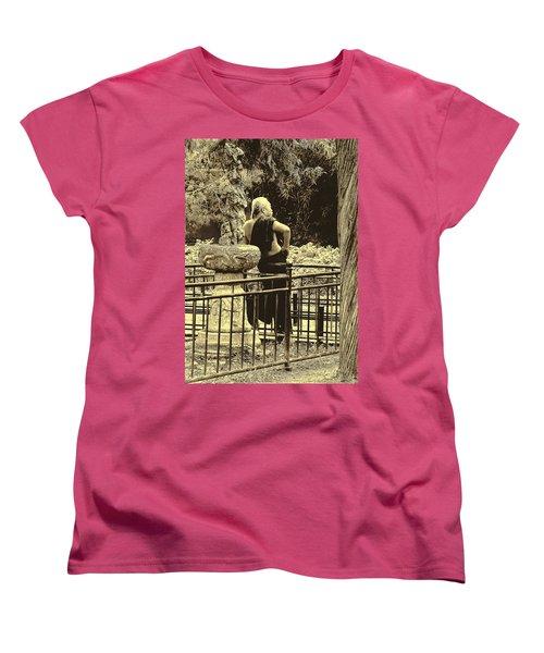 The Thinker Women's T-Shirt (Standard Cut) by Patrick Kain