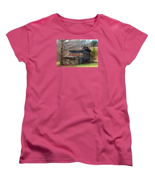 Tumbledown Barn Women's T-Shirt (Standard Cut) by Kathryn Meyer