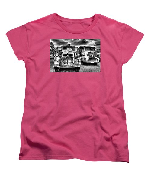 Women's T-Shirt (Standard Cut) featuring the photograph Two Old Beauties by Jeff Swan