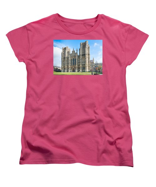 Wells Cathedral Women's T-Shirt (Standard Cut) by Colin Rayner