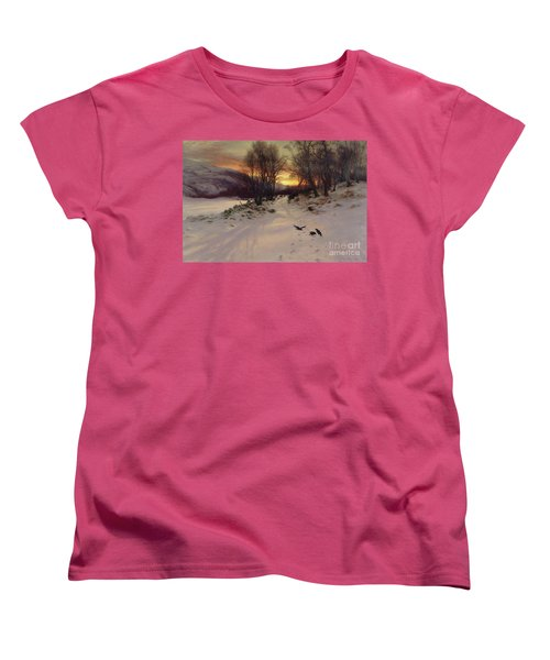 When The West With Evening Glows Women's T-Shirt (Standard Cut) by Joseph Farquharson