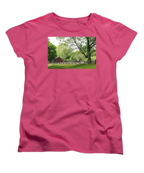 Wick Farm At Jockey Hollow Women's T-Shirt (Standard Cut) by Living Color Photography Lorraine Lynch
