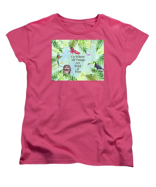 Wild And Free Women's T-Shirt (Standard Cut) by Colleen Taylor