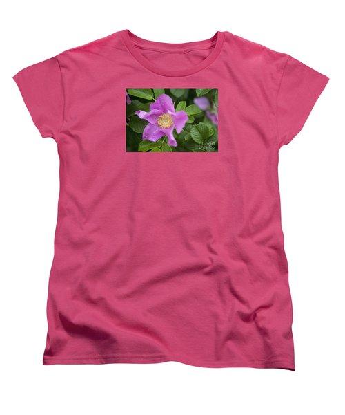 Women's T-Shirt (Standard Cut) featuring the photograph Wild Rose by Alana Ranney