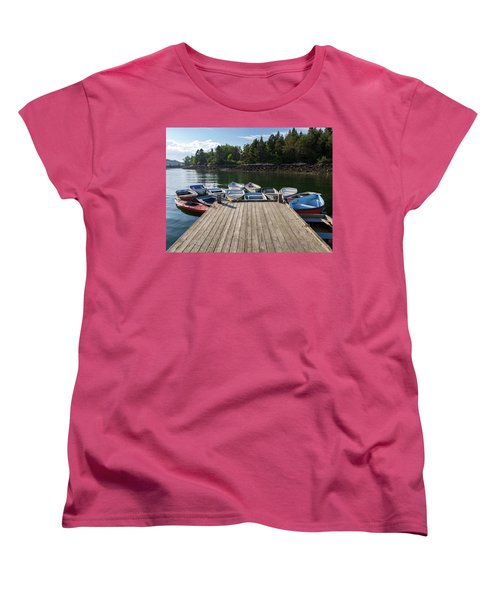 Winter Harbor Maine  Women's T-Shirt (Standard Cut) by Trace Kittrell