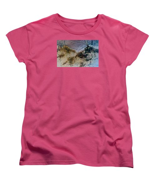 Women's T-Shirt (Standard Cut) featuring the painting Winter's Morn by Carolyn Rosenberger