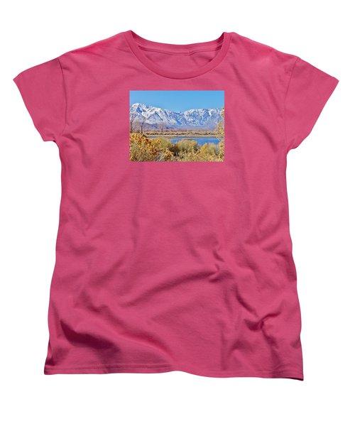 Wonderland Women's T-Shirt (Standard Cut) by Marilyn Diaz