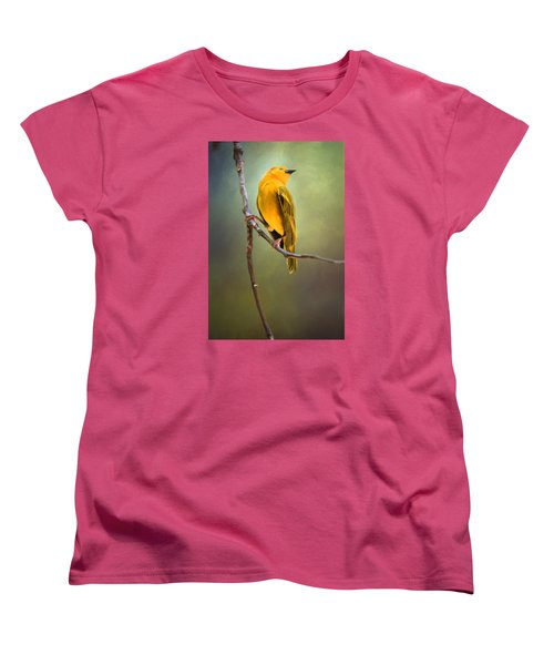 Yellow Bird Women's T-Shirt (Standard Cut) by David and Carol Kelly