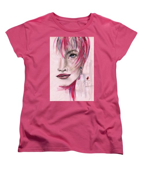 Women's T-Shirt (Standard Cut) featuring the painting Zelda by P J Lewis