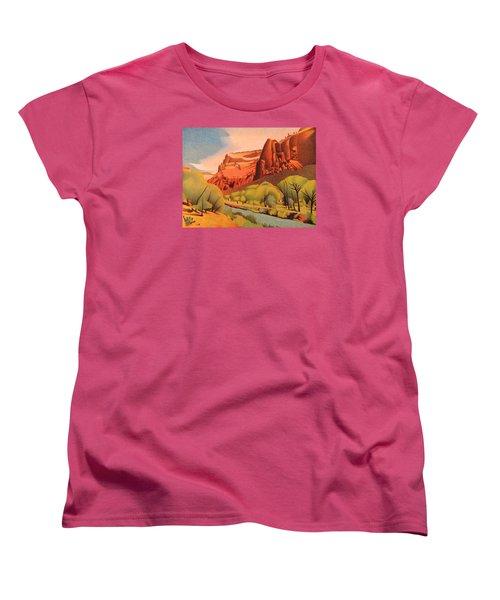 Zion Canyon Women's T-Shirt (Standard Cut) by Dan Miller