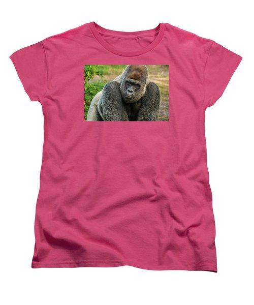 10898 Gorilla Women's T-Shirt (Standard Cut) by Pamela Williams