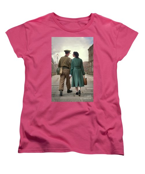 1940s Couple Women's T-Shirt (Standard Cut) by Lee Avison