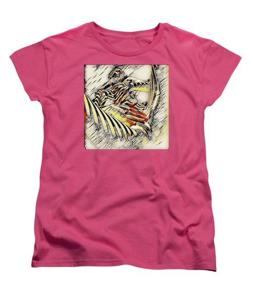 1177s-ak Abstract Nude Her Fingers On Pubis Erotica In The Style Of Kandinsky Women's T-Shirt (Standard Cut) by Chris Maher