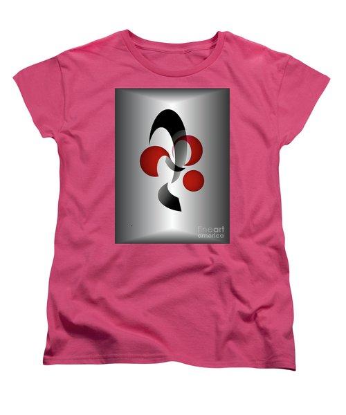 Women's T-Shirt (Standard Cut) featuring the digital art 1313-2017 by John Krakora