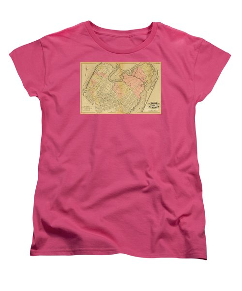 1879 Inwood Map  Women's T-Shirt (Standard Cut) by Cole Thompson