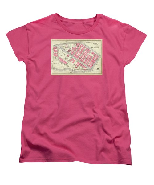 1930 Inwood Map  Women's T-Shirt (Standard Cut) by Cole Thompson