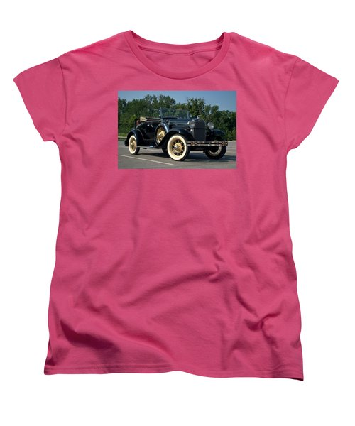 1931 Ford Model A Roadster Women's T-Shirt (Standard Cut) by Tim McCullough