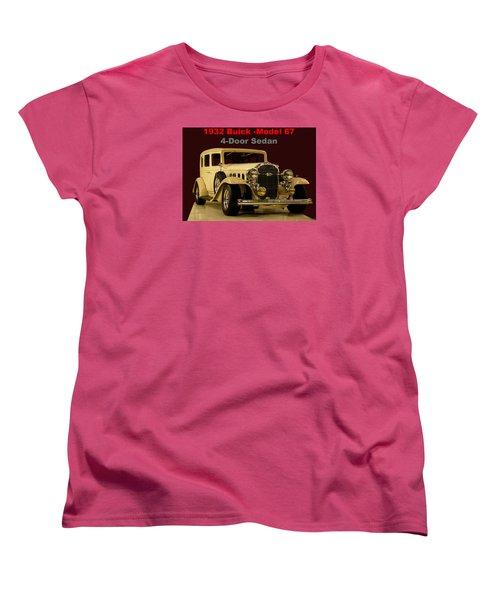 1932 Buick 4door Sedan Women's T-Shirt (Standard Cut) by B Wayne Mullins