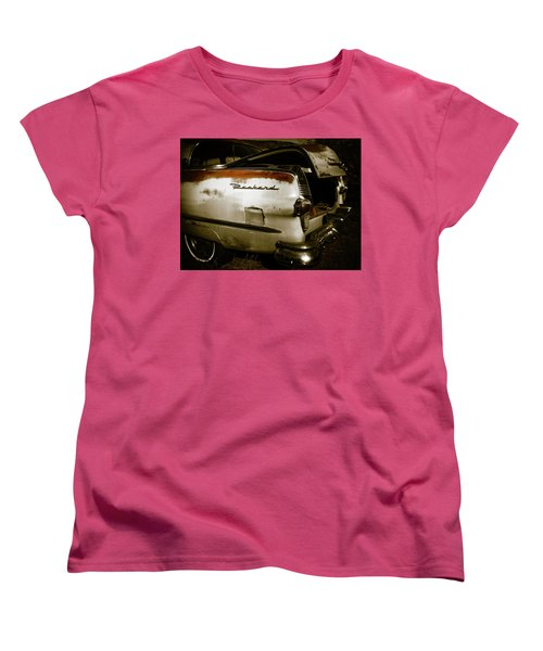 Women's T-Shirt (Standard Cut) featuring the photograph 1950s Packard Trunk by Marilyn Hunt