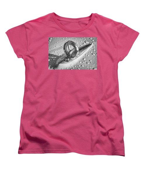 Women's T-Shirt (Standard Cut) featuring the photograph 1955 Buick Hood Ornament 2 by Dennis Hedberg