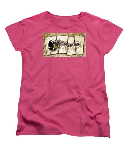 1955 Les Paul Custom Black Beauty V5 Women's T-Shirt (Standard Cut) by Gary Bodnar
