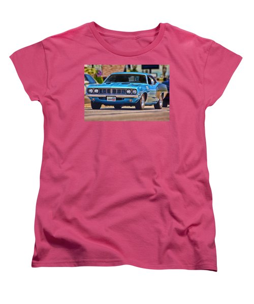 1971 Plymouth 'cuda 383 Women's T-Shirt (Standard Cut) by Gordon Dean II