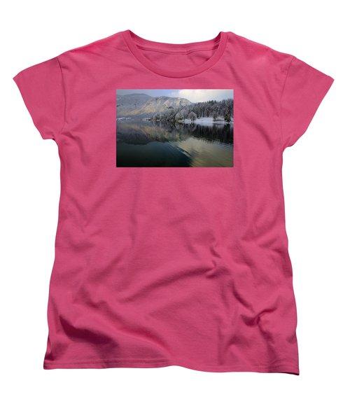 Alpine Winter Reflections Women's T-Shirt (Standard Cut)