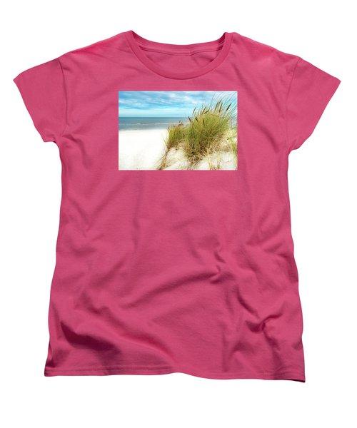 Women's T-Shirt (Standard Cut) featuring the photograph Beach Grass by Hannes Cmarits