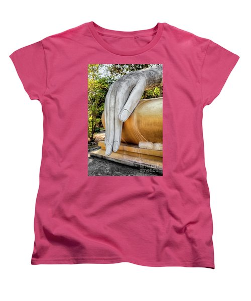 Women's T-Shirt (Standard Cut) featuring the photograph Buddha Hand by Adrian Evans