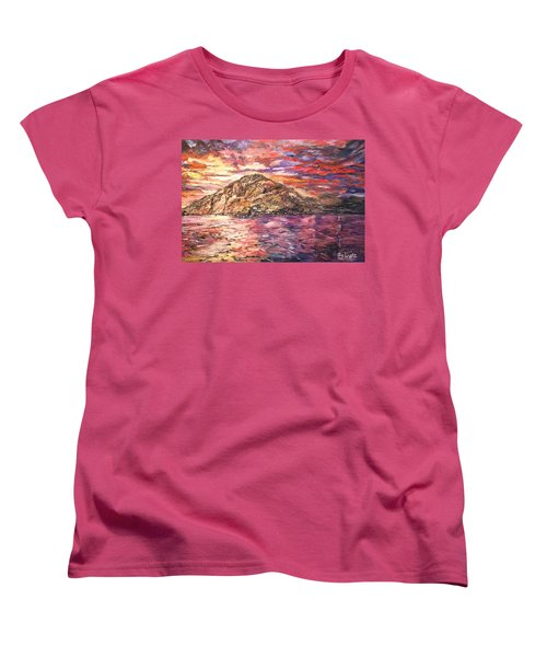 Women's T-Shirt (Standard Cut) featuring the painting Close To You by Belinda Low
