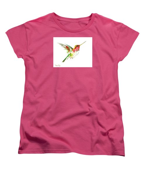 Flying Hummingbird Women's T-Shirt (Standard Cut) by Suren Nersisyan