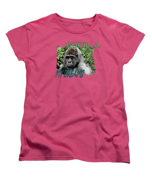 Gorilla My Dreams Women's T-Shirt (Standard Cut) by Joseph Juvenal