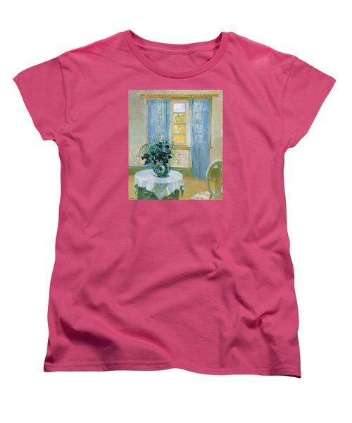 Interior With Clematis Women's T-Shirt (Standard Cut) by Anna Ancher