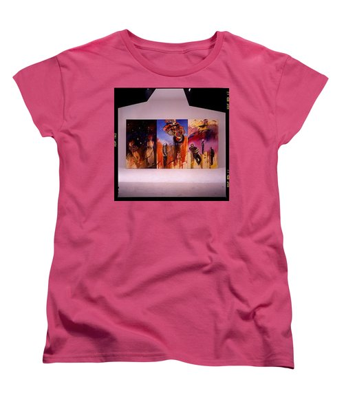 Women's T-Shirt (Standard Cut) featuring the painting Love Hurts by Charles Stuart